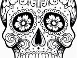 Printable Day Of the Dead Coloring Pages Dia De Los Muertos Colouring Pages