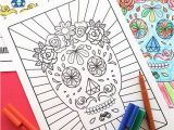 Printable Day Of the Dead Coloring Pages Free Halloween Printable Day Of the Dead Sugar Skull