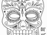 Printable Day Of the Dead Coloring Pages Free Printable Character Face Masks