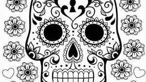 Printable Day Of the Dead Coloring Pages Free Printable Day Of the Dead Coloring Pages