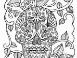 Printable Day Of the Dead Coloring Pages Sugar Skull Coloring Page