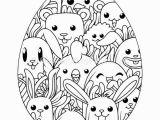 Printable Easter Egg Coloring Pages Download for Free Happy Animals Easter Egg Coloring Pages