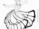 Printable Fairy Princess Coloring Pages 10 Barbie Outline 0d