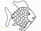 Printable Fishing Coloring Pages Kids Printable Rainbow Fish Coloring Page Free