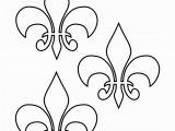 Printable Fleur De Lis Coloring Pages Fleur De Lis Templates