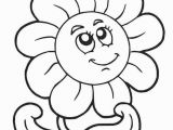 Printable Flower Coloring Pages for Kids Flower Free Printable Coloring Sheets