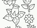 Printable Flower Coloring Pages for Kids Printable Spring Flower Coloring Pages Coloring Home