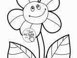 Printable Flower Coloring Pages for Kids Sunflower Drawing Simple at Getdrawings