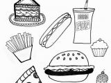 Printable Food Coloring Pages Junk Food 8 5 by11 Coloring Page