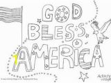 Printable Fourth Of July Coloring Pages God Bless America Colouring Page