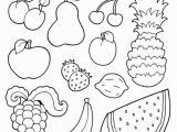 Printable Fruits and Vegetables Coloring Pages Coloring Book with Fruits Images Vector Illustration
