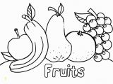 Printable Fruits and Vegetables Coloring Pages Coloring Pages Fresh Fruit and Ve Ables