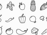 Printable Fruits and Vegetables Coloring Pages Fruits and Ve Ables Coloring Pages Coloring Pages