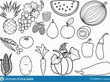 Printable Fruits and Vegetables Coloring Pages Fruits and Ve Ables Coloring Pages – Drive2vote