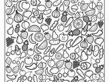 Printable Fruits and Vegetables Coloring Pages Niku Coloring Juli 2017