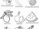 Printable Fruits and Vegetables Coloring Pages Ve Ables and Fruits Coloring Pages