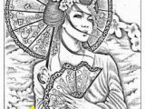 Printable Geisha Coloring Pages 111 Best Adult Coloring Of oriental and Time Images On Pinterest In