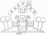 Printable Gingerbread House Coloring Pages Free Printable Gingerbread House Coloring Pages for Kids