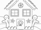 Printable Gingerbread House Coloring Pages House for Drawing at Getdrawings
