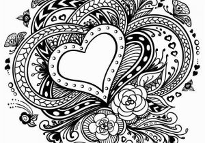 Printable Heart Coloring Pages Adults Beautiful Valentines Coloring Page for Adults Tattoos