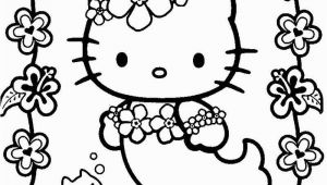 Printable Hello Kitty Mermaid Coloring Pages Hello Kitty Mermaid Kawaii Coloring Page 001