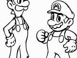 Printable Mario and Luigi Coloring Pages Super Mario and Luigi Coloring Page