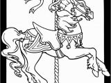 Printable Mary Poppins Coloring Pages Carousel Horses Stained Glass Coloring Book Dover