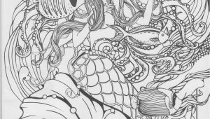 Printable Mermaid Coloring Pages for Adults Mermaid Coloring Page