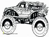 Printable Monster Truck Coloring Pages Coloring Pages Monster Trucks Truck Outline Colorprint