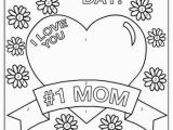 Printable Mothers Day Coloring Pages I Love You Mom