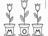 Printable Mothers Day Coloring Pages Mother S Day Flowers Coloring Pages for Kids Printable Free
