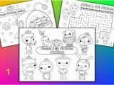 Printable Octonauts Coloring Pages Octonauts Birthday Party Favor Personalized Coloring by