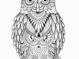 Printable Owl Coloring Pages for Adults Owl Coloring Pages for Adults Free Detailed Owl Coloring