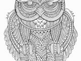 Printable Owl Coloring Pages for Adults Peaceful Owl Owls Adult Coloring Pages