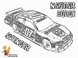 Printable Race Car Coloring Pages Coloring Page Free Nascar Dodge Avenger 01 Full 1200