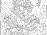 Printable Realistic Mermaid Coloring Pages Mermaids with Treasure Chest From Creative Haven Magnificent