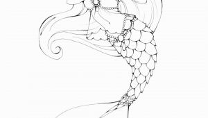 Printable Realistic Mermaid Coloring Pages Pin by Sweettea Blossom On My Home