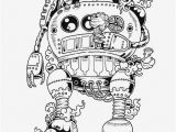 Printable Robot Coloring Pages Doodle Invasion Drawings