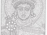 Printable Roman Mosaic Coloring Pages Printable Mosaic Coloring Pages for Adults