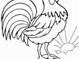Printable Rooster Coloring Pages Free Coloring Hen – Pusat Hobi