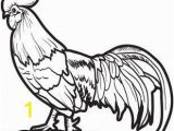 Printable Rooster Coloring Pages Realistic Chicken Coloring Page