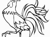 Printable Rooster Coloring Pages Rooster Crowing In Farm Animal Coloring Page Kids Play