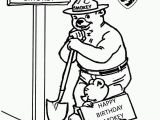 Printable Smokey the Bear Coloring Pages Smokey the Bear Coloring Pages Coloring Home