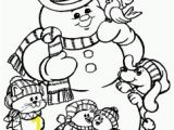 Printable Snowman Coloring Pages Christmas Coloring Pages