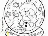 Printable Snowman Coloring Pages Christmas Snow Globe Whit Snowman Coloring Pages Printable