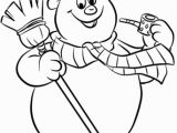 Printable Snowman Coloring Pages Frosty the Snowman Coloring Page From Frosty the Snowman