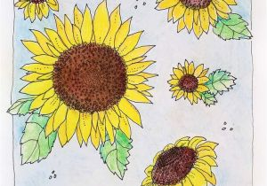 Printable Sunflower Coloring Page Kansas Day Sunflower Coloring Page