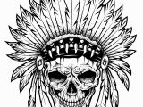 Printable Tattoo Coloring Pages for Adults Tattoo Indian Chief Skull Tattoos Adult Coloring Pages