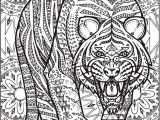 Printable Tiger Coloring Pages Creative Haven Untamed Designs Colouring Book Page 7 Of 7