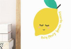 Printable Wall Mural Lemon Kitchen Printable Poster Art Easy Peasy Lemon Squeezy Lemon
